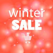 Stock Illustration of Winter sales message