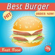 Stock Illustration of tasty burger