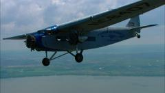 Ford Trimotor Air to Air Wing Wag - stock footage