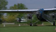 Ford Trimotor Landing Stock Footage