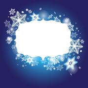 Stock Illustration of winter background with frame for your congratulations and with s