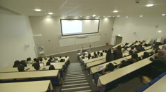 Stock Video Footage of University College School Lecture Hall Theatre
