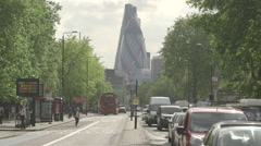 London Whitechapel Road towards City - timelapse possible Stock Footage