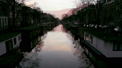 Amsterdam - 050 - Jacob van Lennepkanaal Twilight C2 - stock footage