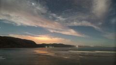 Star lapse night stars morocco coast low light amazing Stock Footage
