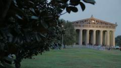 Nashville Parthenon Slider Reveal Stock Footage