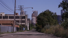 Dirt back road in Detroit 2 Stock Footage