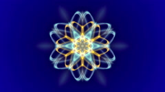 Blue abstract loop motion background, flower light Stock Footage