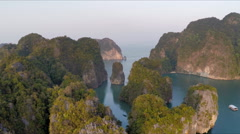 Phang nga 3 levels Stock Footage