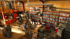 Motion Time-lapse at a coffee roasting facility Stock Footage