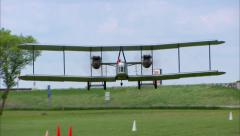 Vickers Vimy Landing Head On Stock Footage