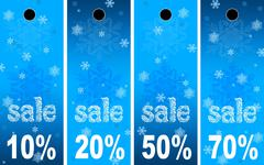 Sale abstract winter background - stock photo
