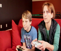 Playstation Family Time - stock footage