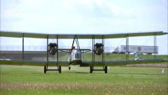 Vickers Vimy Take Off Stock Footage