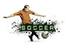Stock Photo of Grunge Soccer Ball background