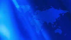 Futuristic technology world map blue motion background 4k - stock footage