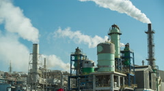Pollution factory industry climate change energy smoke power environment Stock Footage