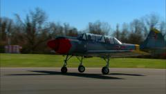 Yakovlev Yak 52 Air to Air Take Off Stock Footage