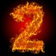 Fire number 2 - stock photo