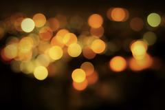 Abstract Night Bokeh Background with Defocused Lights - stock photo