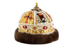 Regal kings fur crown Stock Photos