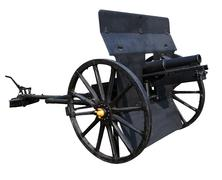 Old black cannon isolated white background use for ancient battle weapon nad  Stock Photos