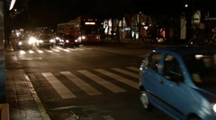 Mexico City Busy street at night Stock Footage