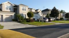 Residential Street Florida - stock footage