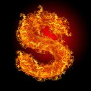 Fire letter S Stock Photos