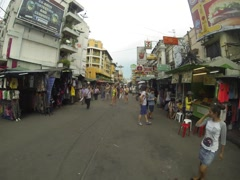 Khao San Road Bangkok Tourists 3K Timelapse Stock Footage