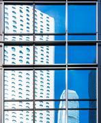 Commercial Window closeup shot Stock Photos
