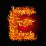 Fire letter E Stock Photos