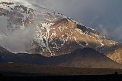 Chimborazo volcano in andean Ecuador - stock photo