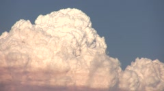 Station Fire realtime zoomed billowing pyro-cumulus clouds HD Stock Footage