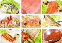 Fish set - stock photo