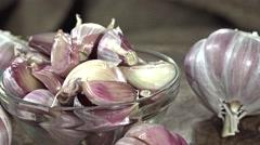 Fresh Garlic (not seamless loopable) Stock Footage