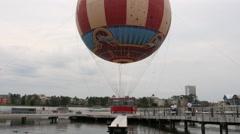 Hot Air Balloon Ride Disney Florida Stock Footage