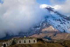 Chimborazo volcano in andean Ecuador - stock photo