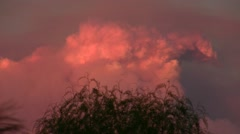 Stock Video Footage of Station Fire realtime pyro-cumulus sunset