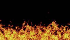 Fire Burning 30 sec. HD incl. Alpha Matte Stock Footage