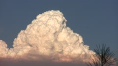 Station Fire realtime zoomed billowing pyro-cumulus cloud HD Stock Footage