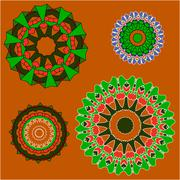 Lace  floral ethnic ornament Stock Illustration