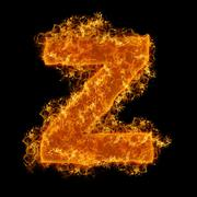Fire small letter Z Stock Photos