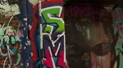 Melbourne - Graffiti Art Zoom Out Stock Footage