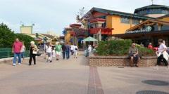 Disney Shopping Street Florida Stock Footage