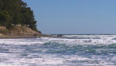 Levanta waves on Mediterranean,Andalucia Stock Footage