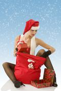 looking christmas beg - stock photo