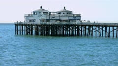 4K, UHD, Malibu Pier, Los Angeles, California, BlackMagic Production Camera Stock Footage