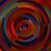 Weird Colorful Circles. Abstract Shapes Mosaic. Decorative Circle Stripes. - stock illustration