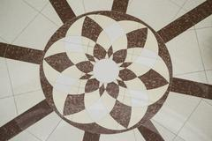 Geometric floor pattern - stock photo